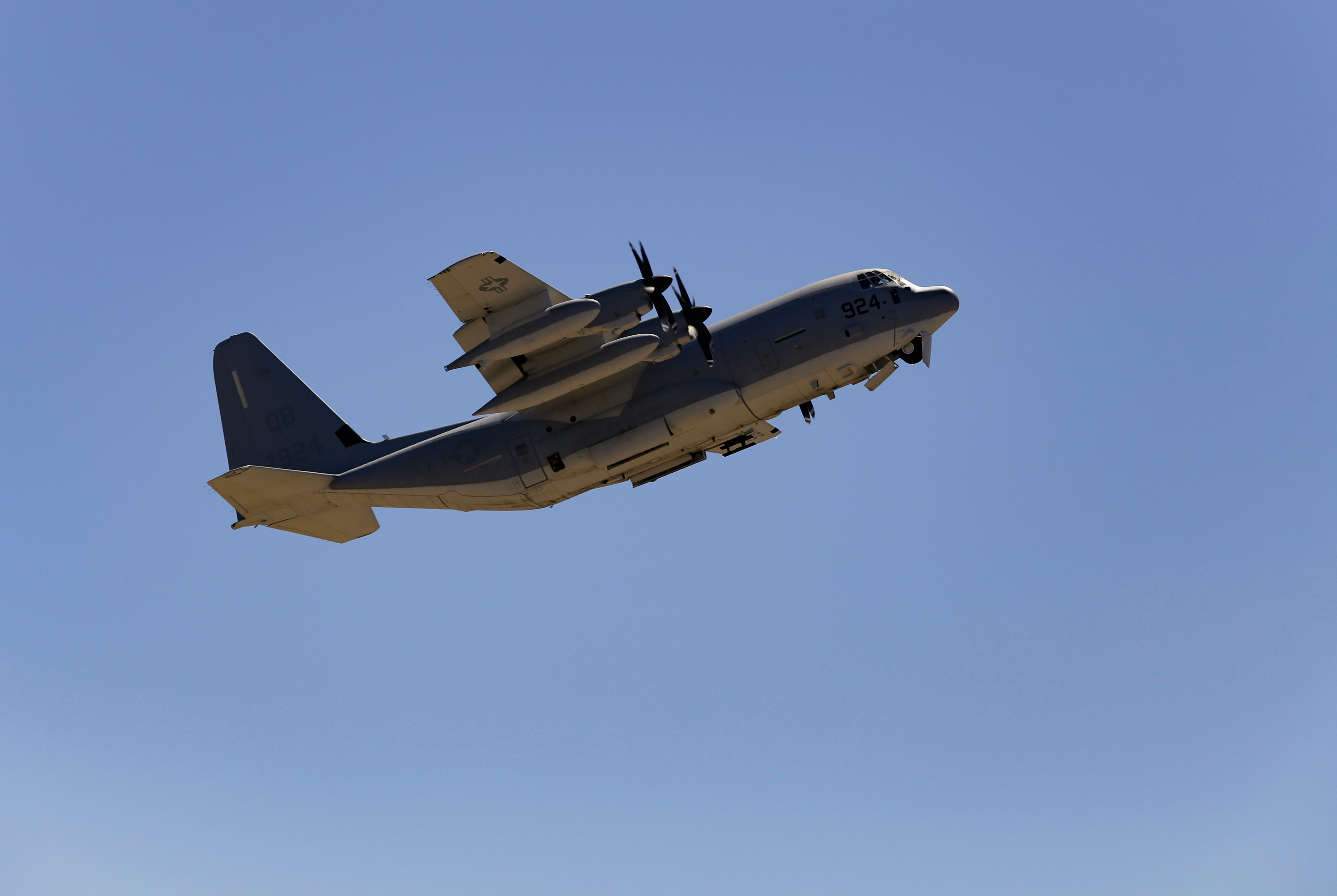 photo of climb out of C-130