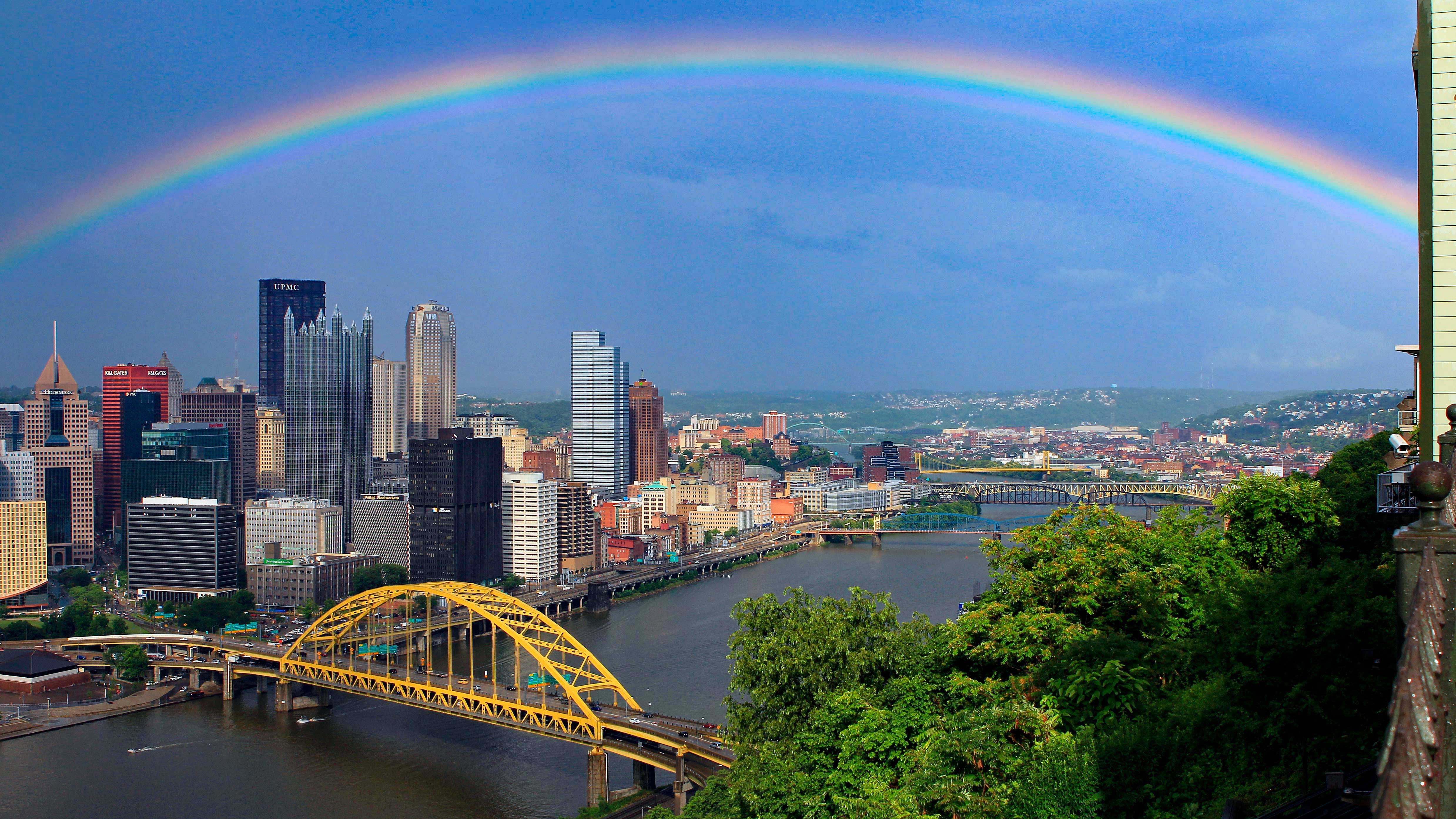 A rainbow over Pittsburgh